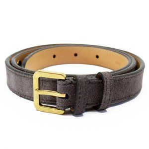 Auth Louis Vuitton Ceinture spike studs Belt Gray
